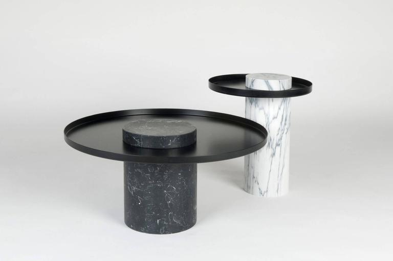 Low Salute Coffee Table Black Marble Copper Tray For Sale At 1stdibs