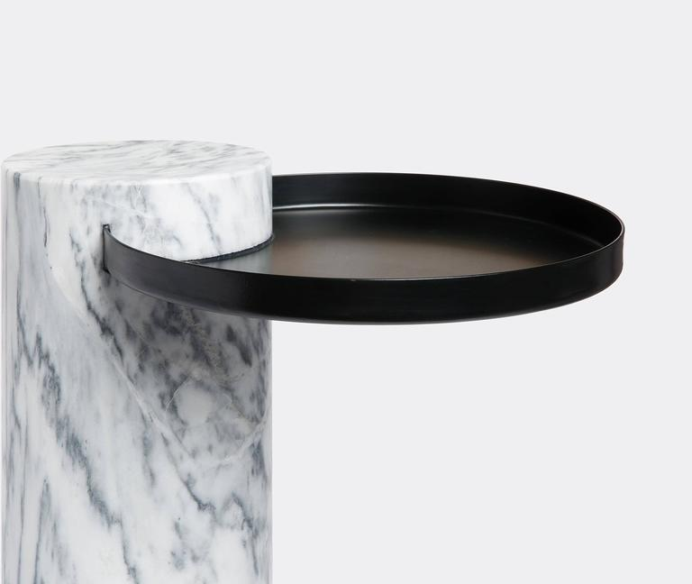 High Salute Coffee Table White Marble Black Tray For Sale At 1stdibs
