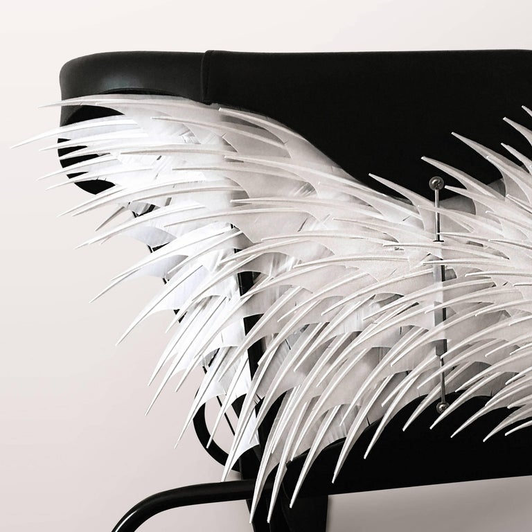 Swedish Club Chair, Accoutre No.2, Leather and Feather Armchair For Sale