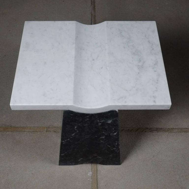 Italian Coulee, Contemporary Marble Side Table For Sale