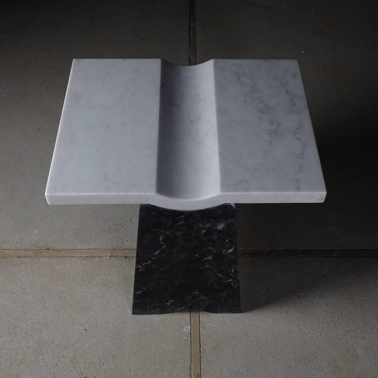 Coulee, Contemporary Marble Side Table In New Condition For Sale In London, GB
