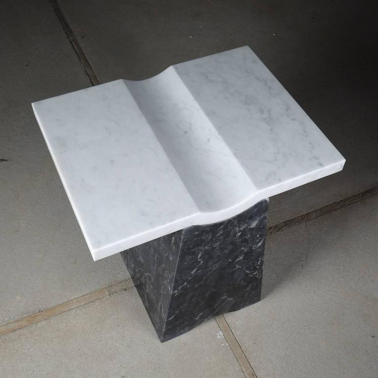 Coulee, Contemporary Marble Side Table For Sale 1