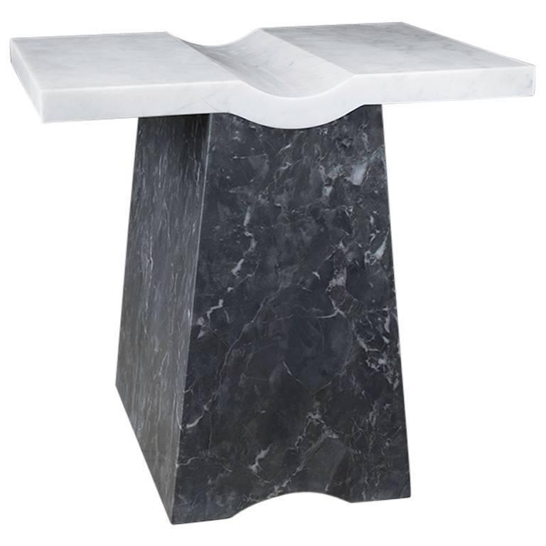 Coulee, Contemporary Marble Side Table