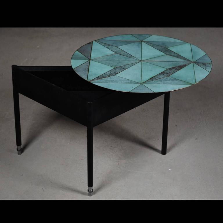 Marque' Coffee Table, Contemporary Inlaid Metal Coffee Table In New Condition For Sale In London, GB