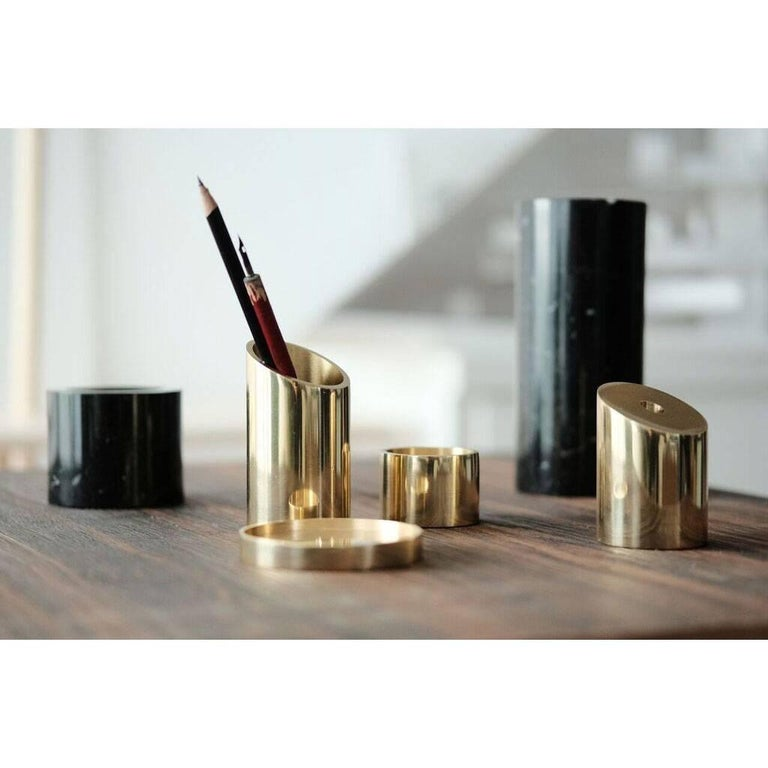 Deskcape, Marble and Brass Desk Organiser For Sale 1