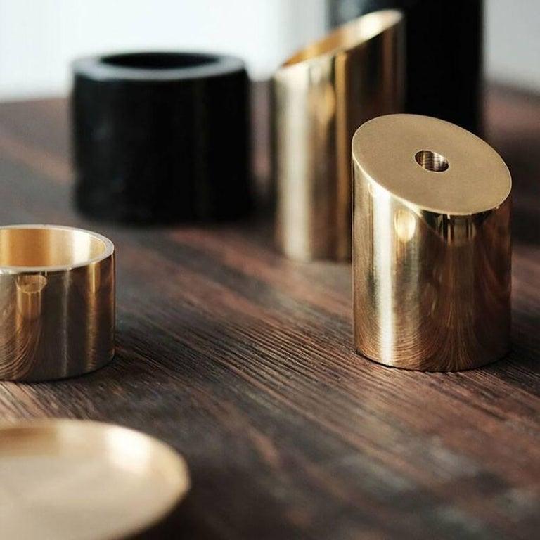English Deskcape, Marble and Brass Desk Organiser For Sale
