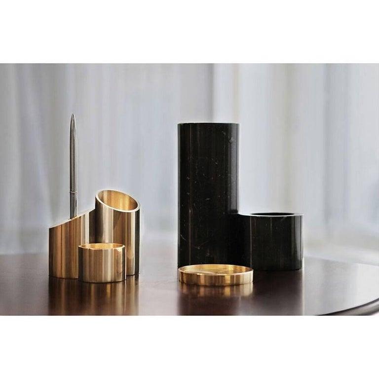 Deskcape, Marble and Brass Desk Organiser For Sale 2