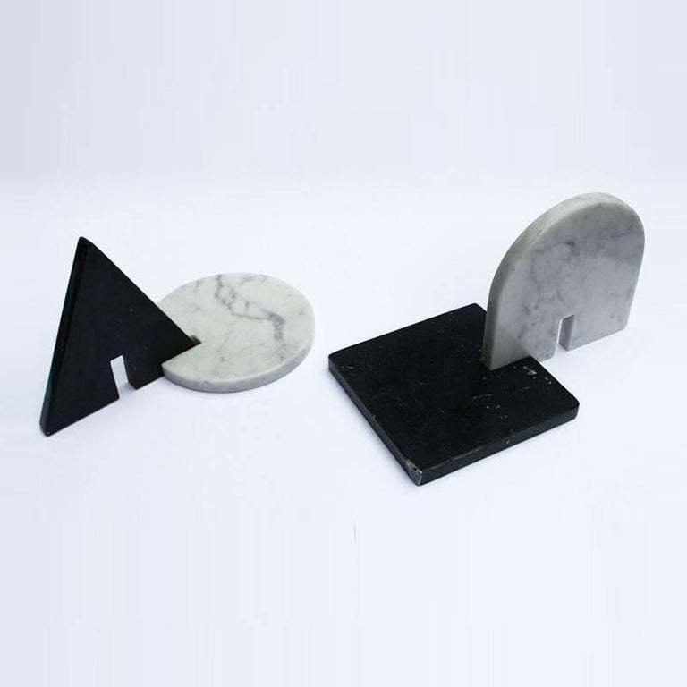 Noda, Black and White Marble, Minimal, Sculptural Trivets In New Condition For Sale In London, GB
