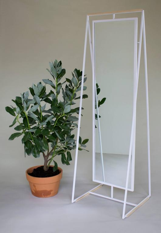 Ellen Standing and Rotating Mirror with Rear Garment Rack 7
