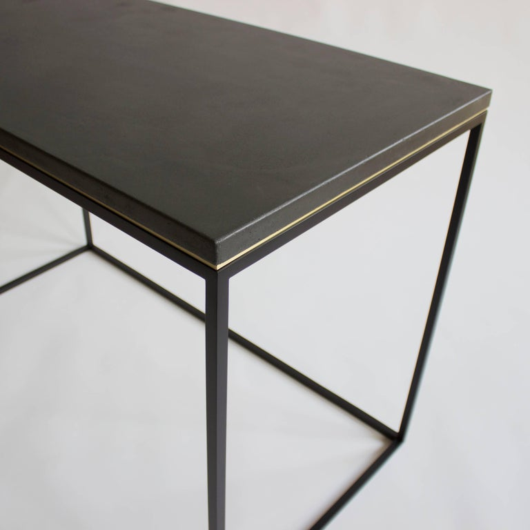 American Wilson Modern Minimalist Concrete Writing Desk or Console For Sale