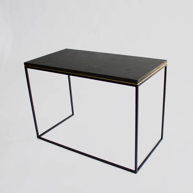 Cast Wilson Modern Minimalist Concrete Writing Desk or Console For Sale