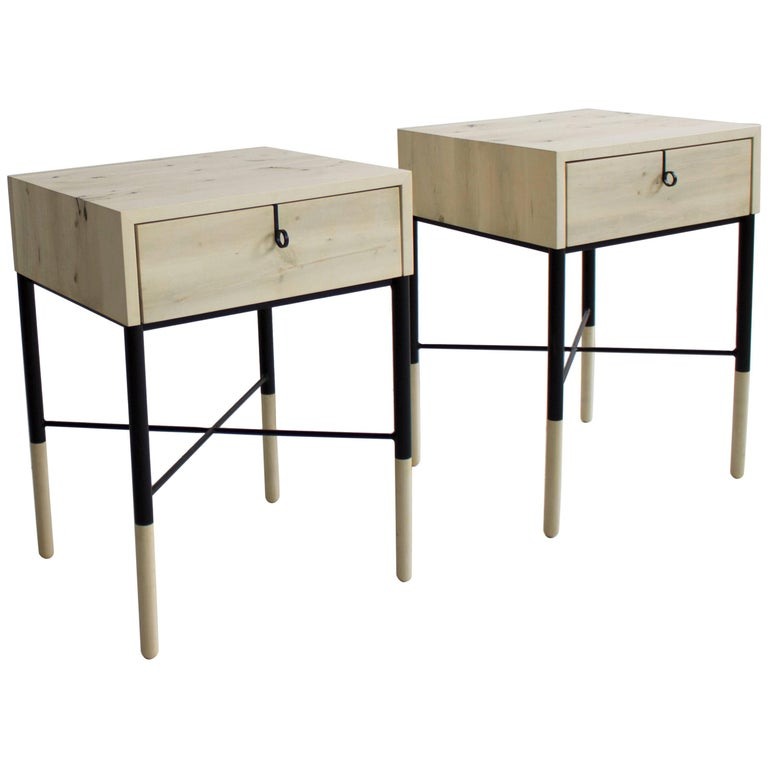 Limited Edition Phillip Side Table and Nightstand Set, in Stock