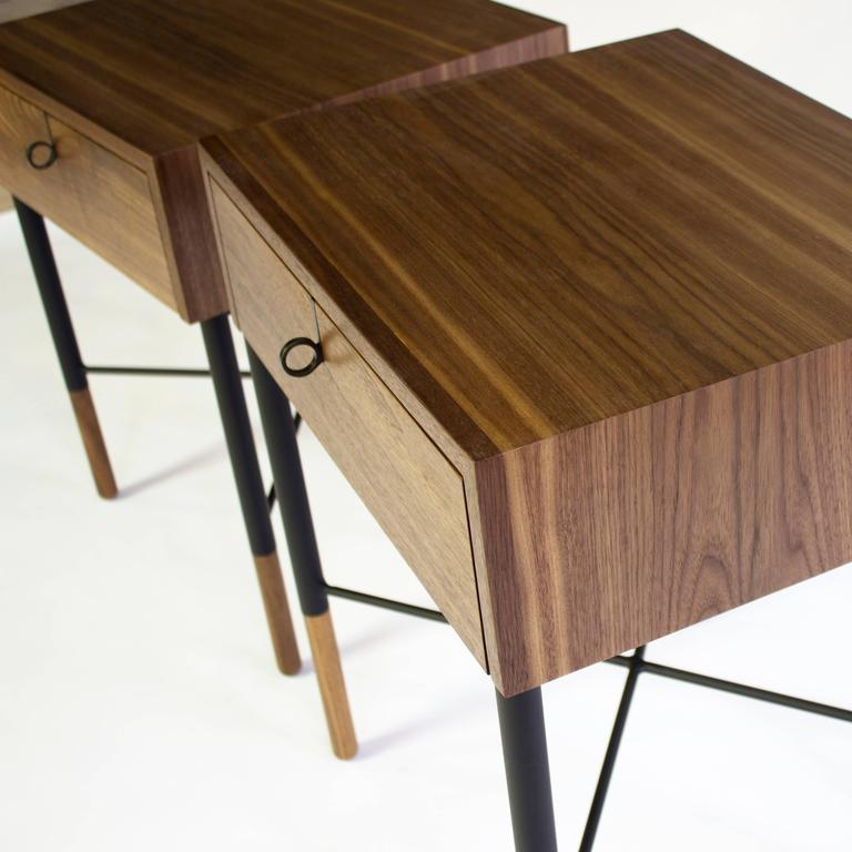 Phillip Walnut Nightstand and Side Table  6
