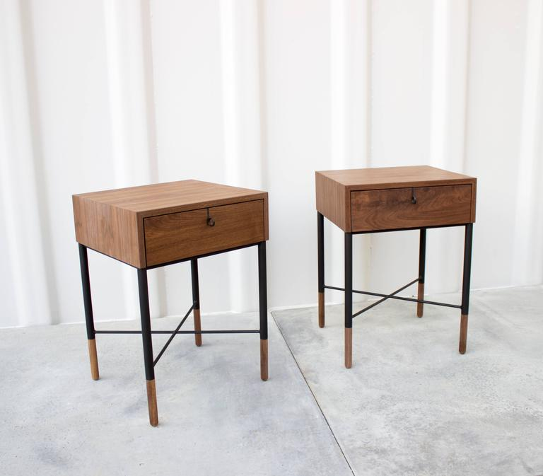 Phillip Walnut Nightstand and Side Table  3