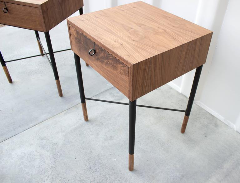 Phillip Walnut Nightstand and Side Table  7
