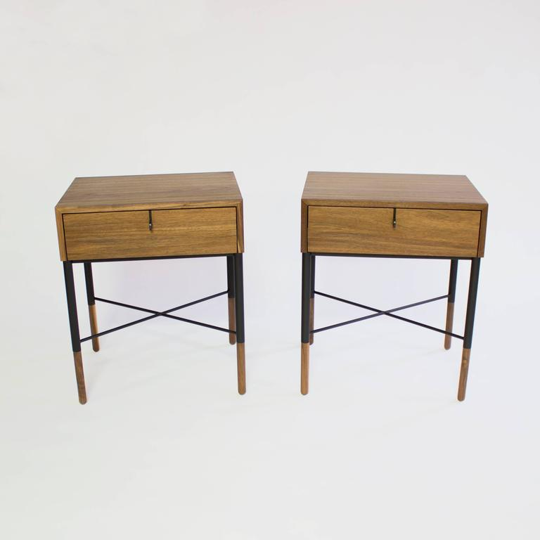 Phillip Walnut Nightstand and Side Table  2