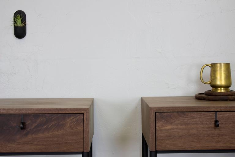 Phillip Walnut Nightstand and Side Table  8