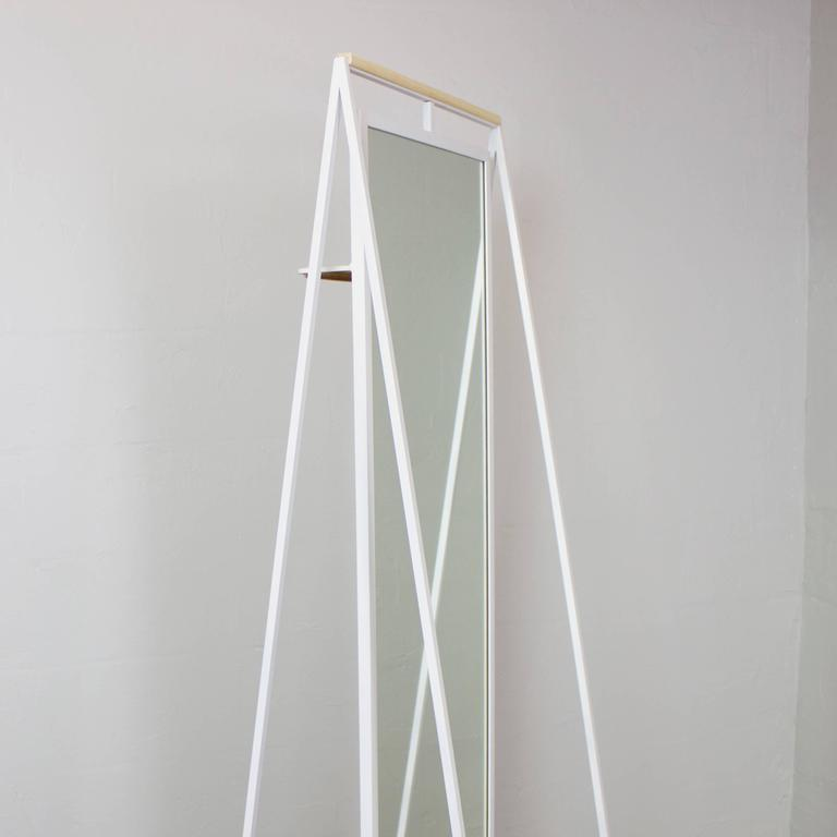 Ellen Standing and Rotating Mirror with Rear Garment Rack 5