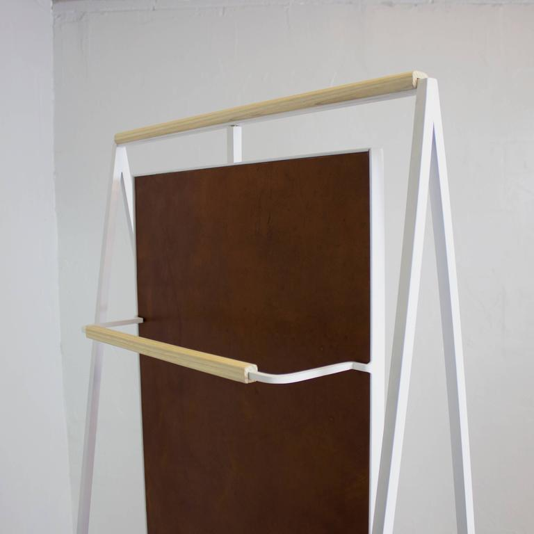 Ellen Standing and Rotating Mirror with Rear Garment Rack 8