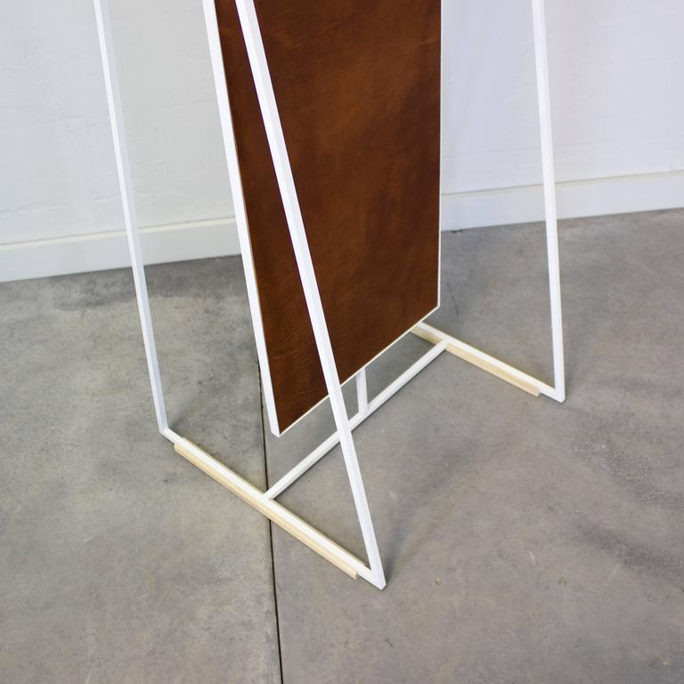 Ellen Standing and Rotating Mirror with Rear Garment Rack 9