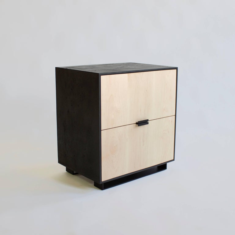 Modern Hanks Concrete, Cement Side Table and Nightstand For Sale