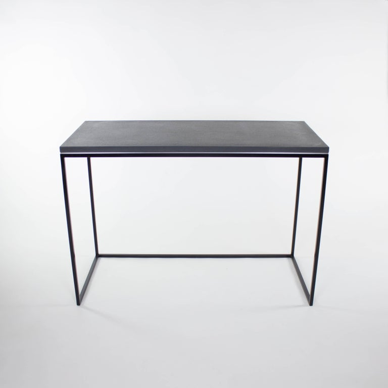 Wilson Modern Minimalist Concrete Writing Desk or Console In Excellent Condition For Sale In Baltimore City, MD