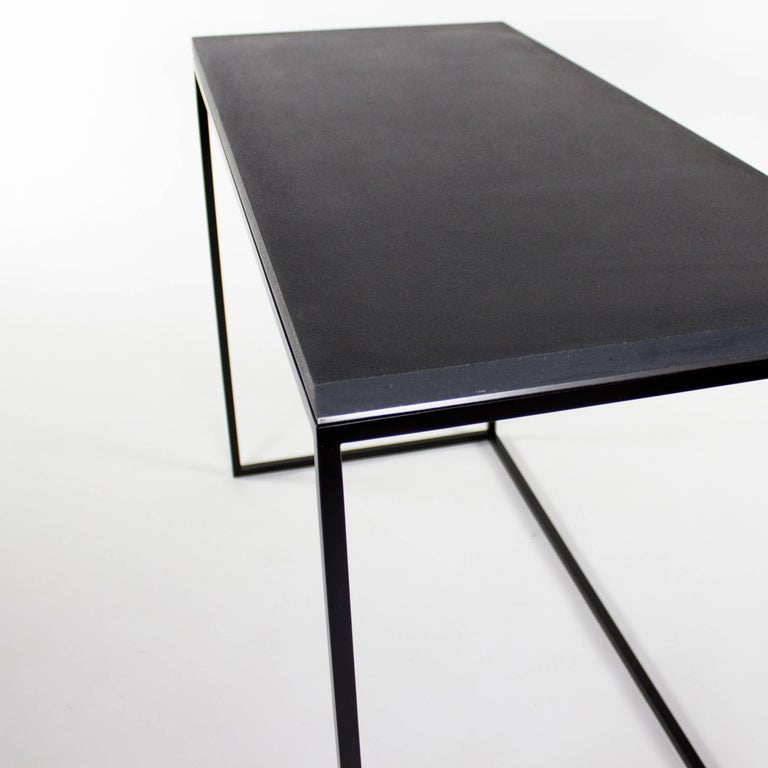 Wilson modern minimalist concrete writing desk or console for Minimalist writing