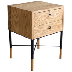 Phillips Two-Drawer Nightstand and Side Table Set