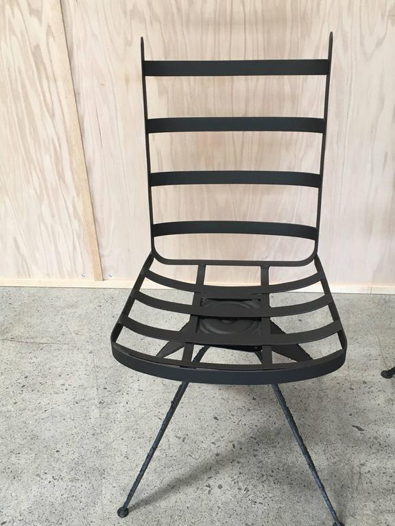 Mid-Century Modern Torch Cut Brutal Swivel Chairs For Sale