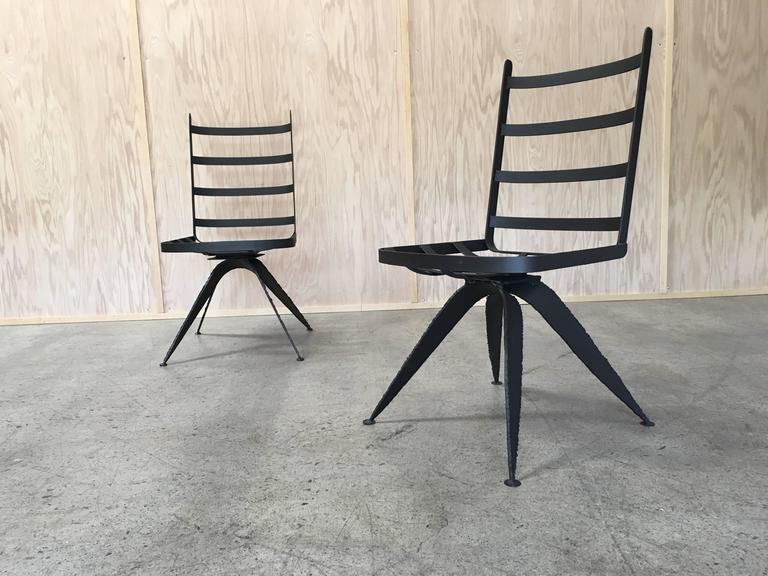 American Torch Cut Brutal Swivel Chairs For Sale