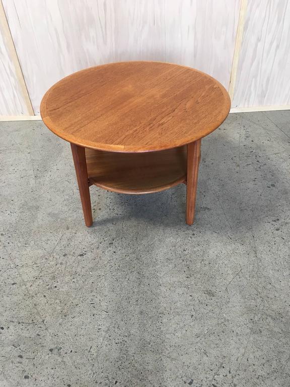 Round Danish Modern Teak Side Table For Sale At 1stdibs