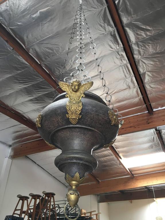 19th Century Sanctuary Church Pendant In Good Condition For Sale In Laguna Hills, CA