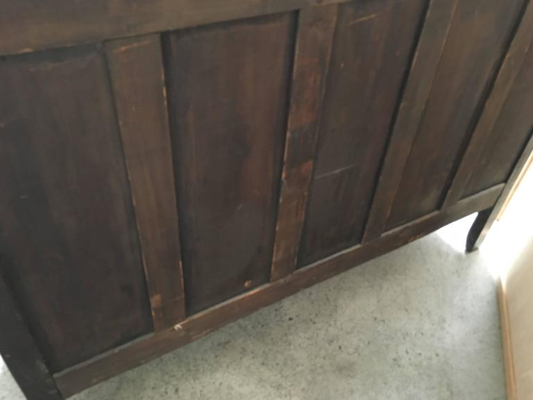 19th Century Rustic Buffet with Burl Wood Panels For Sale 3