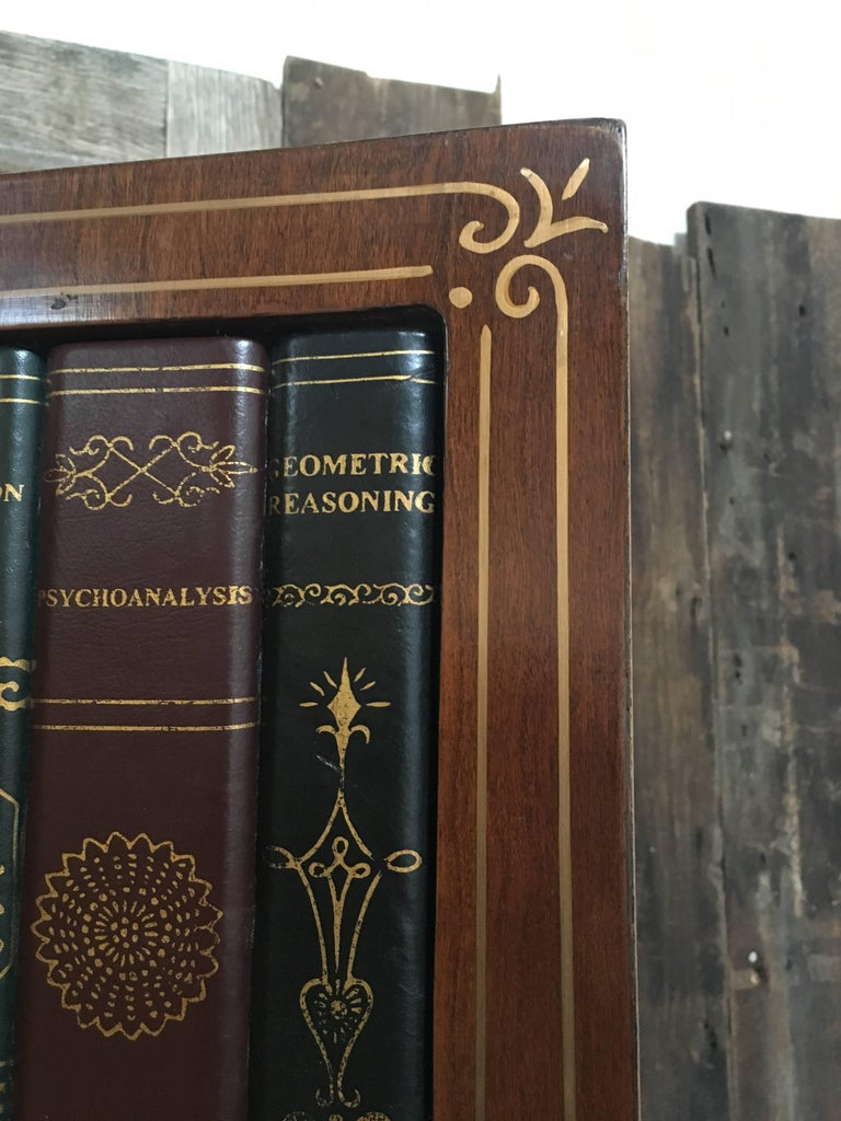 20th Century Leather Book Room Divider  For Sale 4