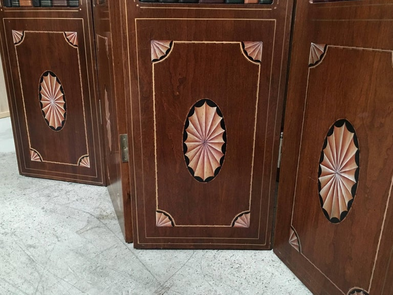 20th Century Leather Book Room Divider  For Sale 3