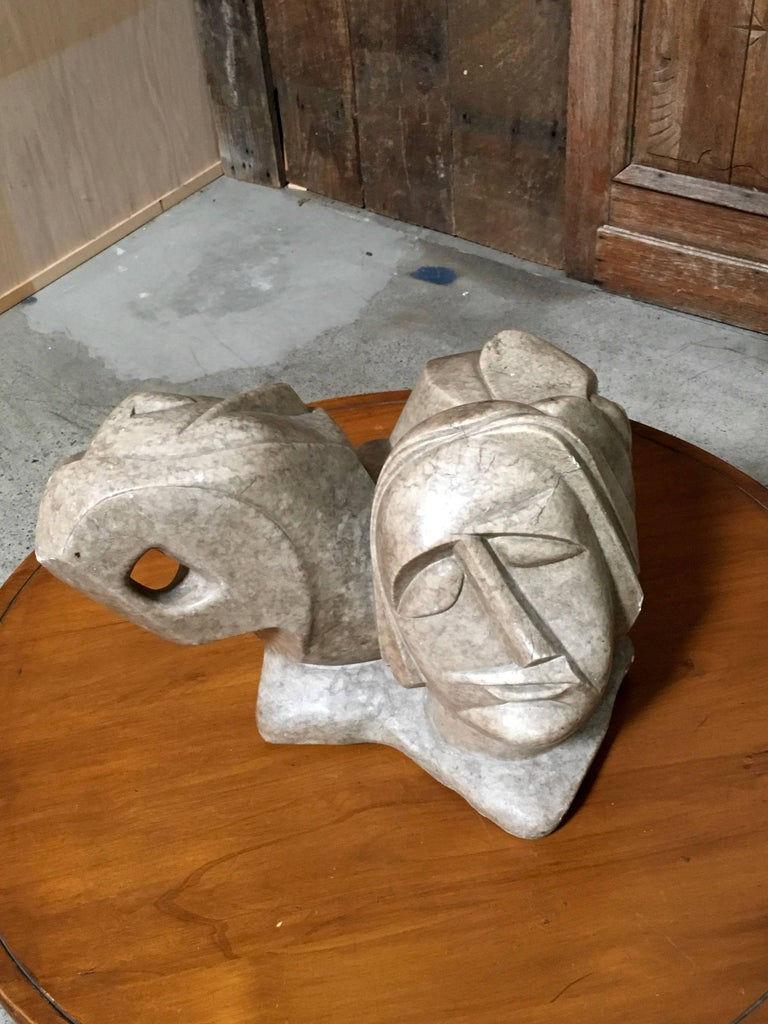 20th Century Abstract Marble Sculpture For Sale 3