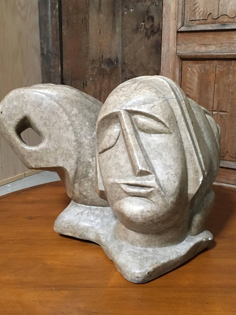20th Century Abstract Marble Sculpture In Good Condition For Sale In Laguna Hills, CA