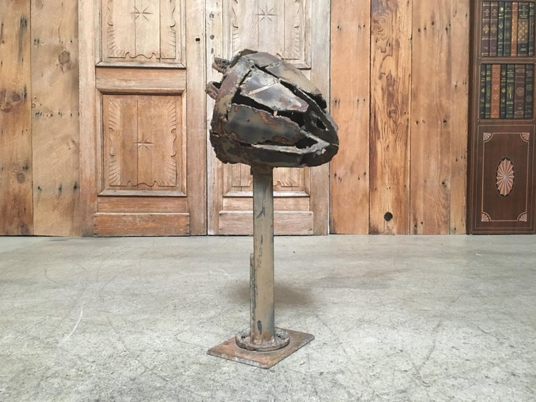 Brutalist Torch Cut Brutal Sculpture For Sale