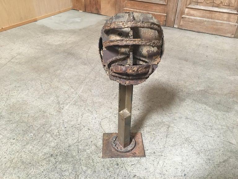 Torch Cut Brutal Sculpture For Sale 1