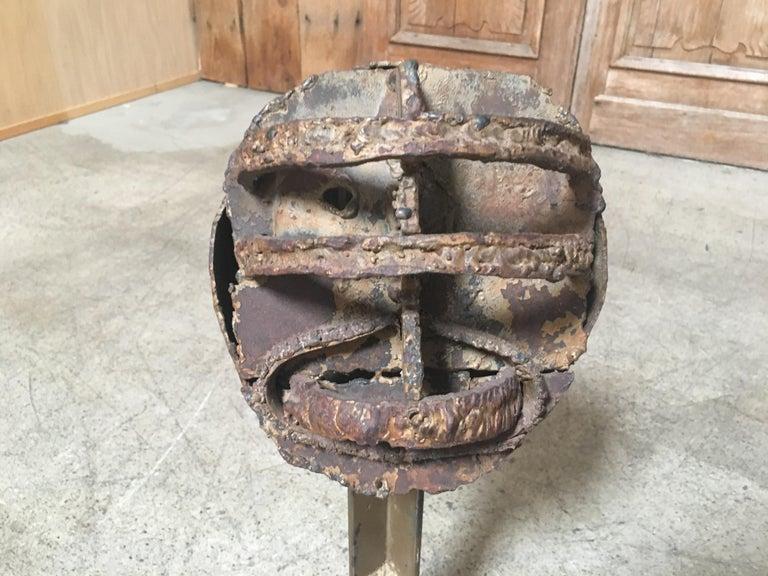 Torch Cut Brutal Sculpture For Sale 2