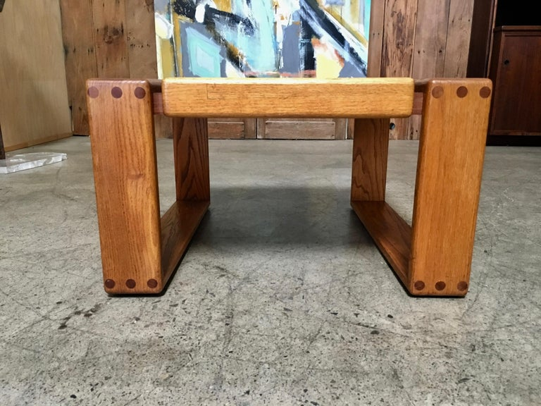 20th Century California Design 1970s End Table by Lou Hodges For Sale