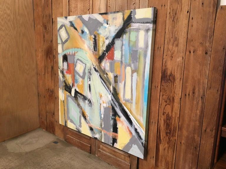 Abstract painting on canvas by Laguna Beach artist Ken Ohmert.