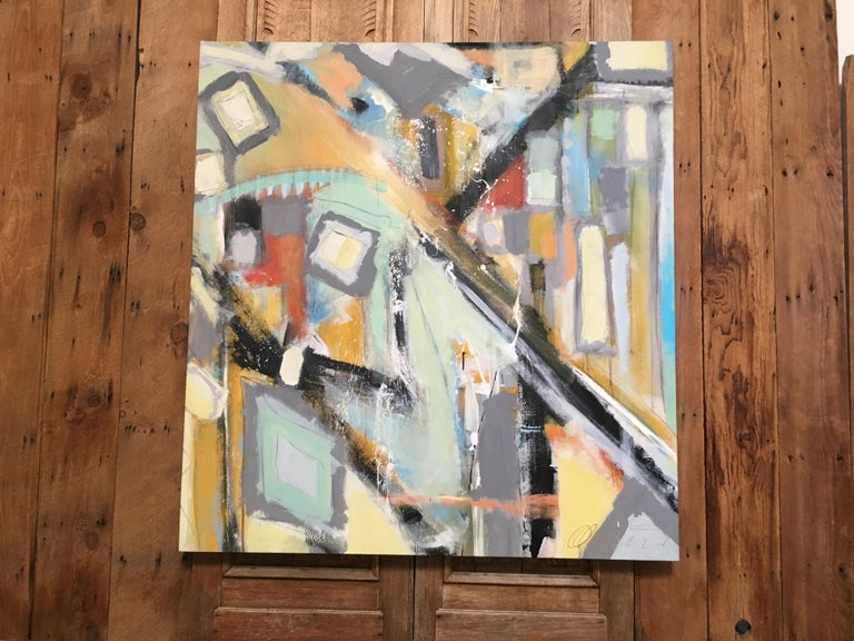 Canvas Abstract Painting by Ken Ohmert For Sale