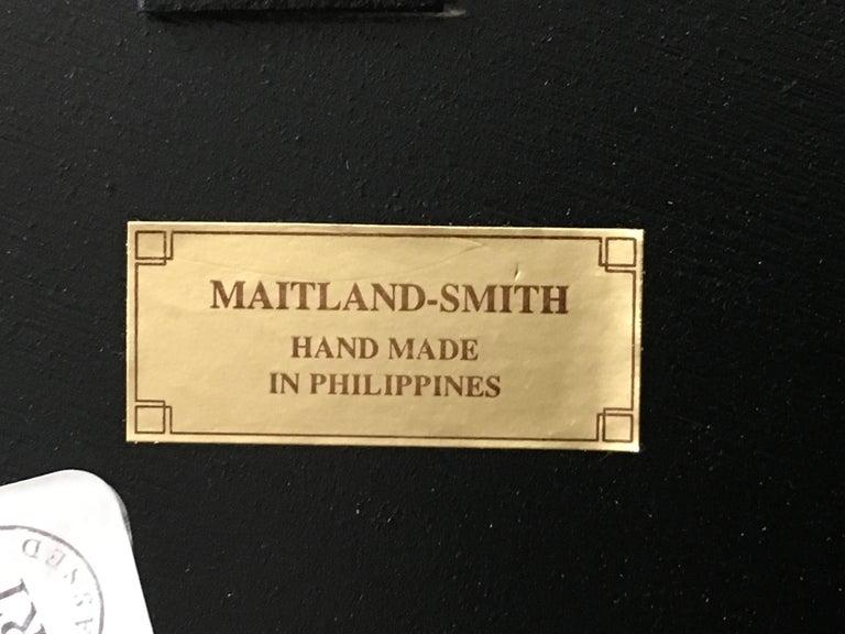 Modern Tobacco Leaf Framed mirror by Maitland-Smith For Sale