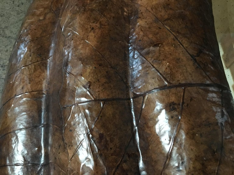 Mirror Tobacco Leaf Framed mirror by Maitland-Smith For Sale