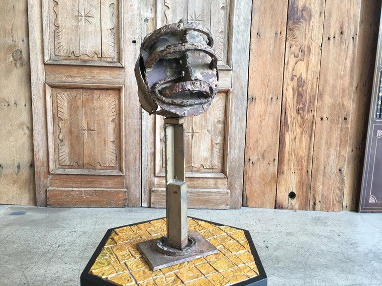 North American Torch Cut Brutal Sculpture For Sale