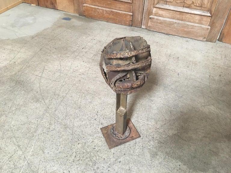 Torch Cut Brutal Sculpture For Sale 9
