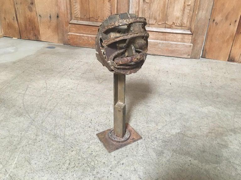 Torch Cut Brutal Sculpture In Good Condition For Sale In Laguna Hills, CA