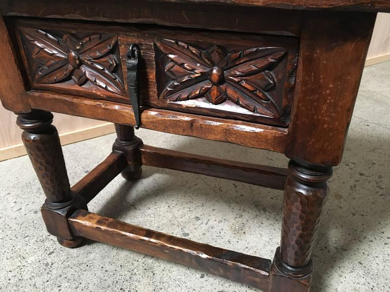 Spanish Gothic Style Side Table For Sale