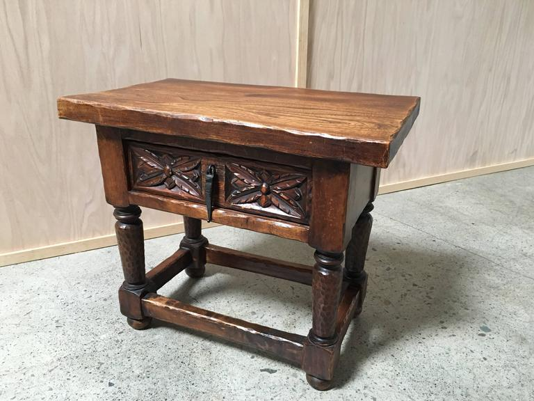 Gothic Style Side Table For Sale 1